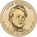 2010-D American $1 Presidential Series: James Buchanan Brilliant Uncirculated Coin