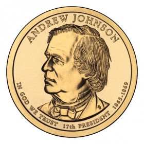 2011-D American $1 Presidential Series: Andrew Johnson Brilliant Uncirculated Coin