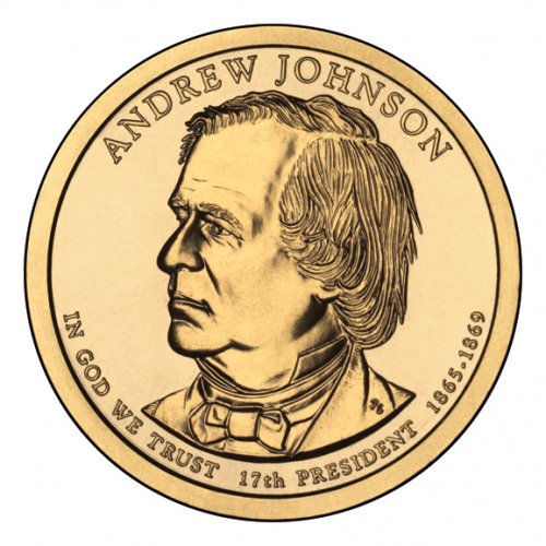2011-P American $1 Presidential Series: Andrew Johnson Brilliant Uncirculated Coin
