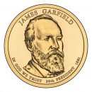 2011-D American $1 Presidential Series: James Garfield Brilliant Uncirculated Coin