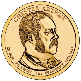 2012-P American $1 Presidential Series: Chester A. Arthur Brilliant Uncirculated Coin