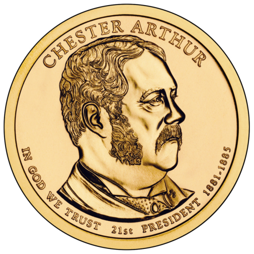 2012-D American $1 Presidential Series: Chester A. Arthur Brilliant Uncirculated Coin