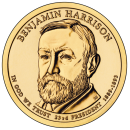 2012-P American $1 Presidential Series: Benjamin Harrison Brilliant Uncirculated Coin