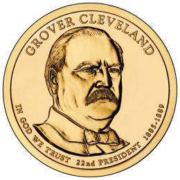 2012-P American $1 Presidential Series: Grover Cleveland (First Term) Brilliant Uncirculated Coin
