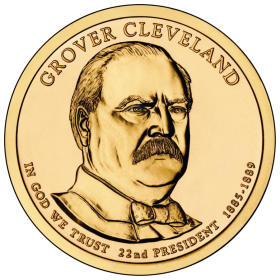 2012-D American $1 Presidential Series: Grover Cleveland (First Term) Brilliant Uncirculated Coin