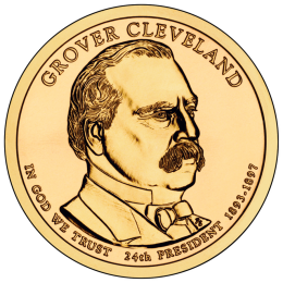 2012-P American $1 Presidential Series: Grover Cleveland (Second Term) Brilliant Uncirculated Coin