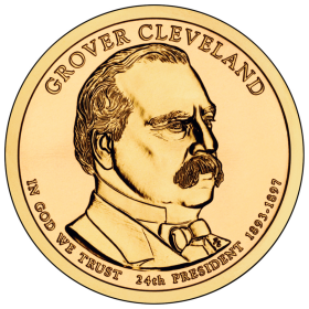 2012-D American $1 Presidential Series: Grover Cleveland (Second Term) Brilliant Uncirculated Coin