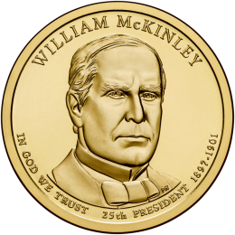 2013-D American $1 Presidential Series: William McKinley Brilliant Uncirculated Coin