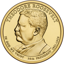 2013-D American $1 Presidential Series: Theodore Roosevelt Brilliant Uncirculated Coin