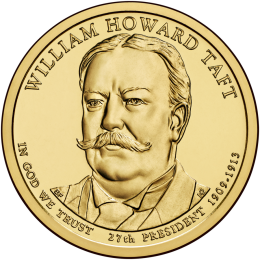 2013-D American $1 Presidential Series: William Howard Taft Brilliant Uncirculated Coin