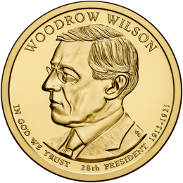 2013-D American $1 Presidential Series: Woodrow Wilson Brilliant Uncirculated Coin