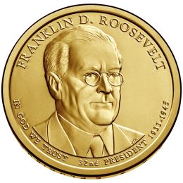2014-D American $1 Presidential Series: Franklin D. Roosevelt Brilliant Uncirculated Coin