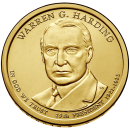 2014-D American $1 Presidential Series: Warren G. Harding Brilliant Uncirculated Coin