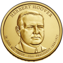 2014-P American $1 Presidential Series: Herbert Hoover Brilliant Uncirculated Coin