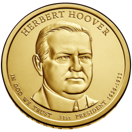 2014-D American $1 Presidential Series: Herbert Hoover Brilliant Uncirculated Coin