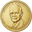 2015-D American $1 Presidential Series: Dwight Eisenhower Brilliant Uncirculated Coin