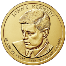2015-D American $1 Presidential Series: John F. Kennedy Brilliant Uncirculated Coin