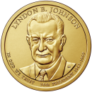 2015-D American $1 Presidential Series: Lyndon B. Johnson Brilliant Uncirculated Coin
