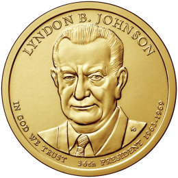 2015-P American $1 Presidential Series: Lyndon B. Johnson Brilliant Uncirculated Coin