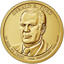 2016-P American $1 Presidential Series: Gerald Ford Brilliant Uncirculated Coin