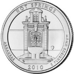 2010-P American 25-Cent National Parks: Hot Springs Brilliant Uncirculated Coin
