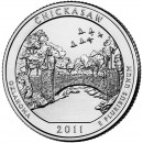 2011-D American 25-Cent National Parks: Chickasaw Brilliant Uncirculated Coin