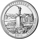 2011-D American 25-Cent National Parks: Gettysburg Brilliant Uncirculated Coin
