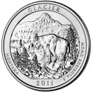 2011-P American 25-Cent National Parks: Glacier Brilliant Uncirculated Coin