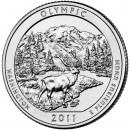 2011-P American 25-Cent National Parks: Olympic Brilliant Uncirculated Coin