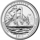 2011-D American 25-Cent National Parks: Vicksburg Brilliant Uncirculated Coin