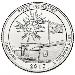 2013-P American 25-Cent National Parks: Fort McHenry National Monument and Historic Shrine Brilliant Uncirculated Coin