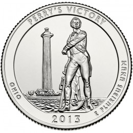 2013-P American 25-Cent National Parks: Perry's Victory and International Peace Memorial Brilliant Uncirculated Coin