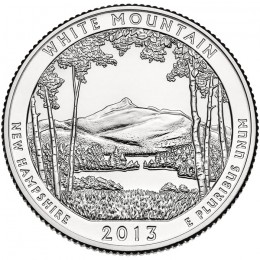 2013-P American 25-Cent National Parks: White Mountain National Forest Brilliant Uncirculated Coin