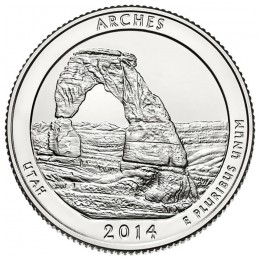 2014-D American 25-Cent National Parks: Arches Brilliant Uncirculated Coin