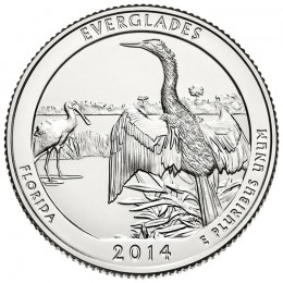 2014-P American 25-Cent National Parks: Everglades Brilliant Uncirculated Coin