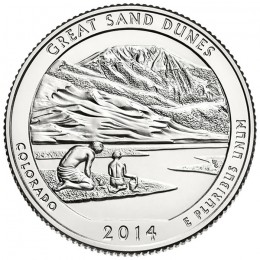 2014-P American 25-Cent National Parks: Great Sand Dunes Brilliant Uncirculated Coin
