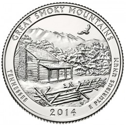 2014-D American 25-Cent National Parks: Great Smoky Mountains Brilliant Uncirculated Coin