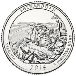 2014-P American 25-Cent National Parks: Shenandoah Brilliant Uncirculated Coin