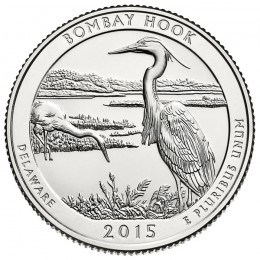2015-D American 25-Cent National Parks: Bombay Hook National Wildlife Refuge Brilliant Uncirculated Coin