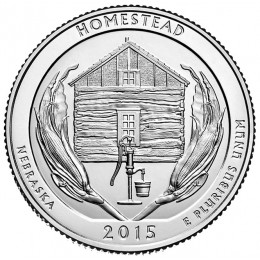2015-D American 25-Cent National Parks: Homestead National Monument of America Brilliant Uncirculated Coin