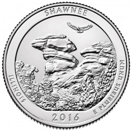 2016-P American 25-Cent National Parks: Shawnee National Forest Brilliant Uncirculated Coin
