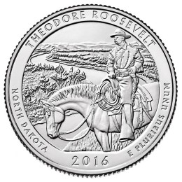 2016-P American 25-Cent National Parks: Theodore Roosevelt Brilliant Uncirculated Coin