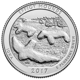 2017-P American 25-Cent National Parks: Effigy Mounds Brilliant Uncirculated Coin