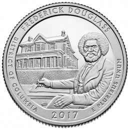 2017-D American 25-Cent National Parks: Frederick Douglass Brilliant Uncirculated Coin