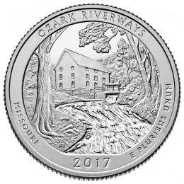 2017-P American 25-Cent National Parks: Ozark National Scenic Riverways Brilliant Uncirculated Coin