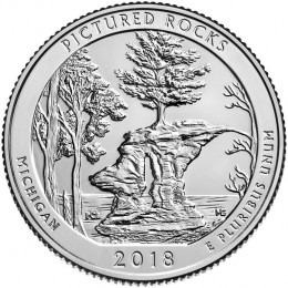 2018-D American 25-Cent National Parks: Pictured Rocks National Lakeshore Brilliant Uncirculated Coin