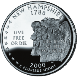 2000-P American 25-Cent State Quarter Series: New Hampshire Brilliant Uncirculated Coin