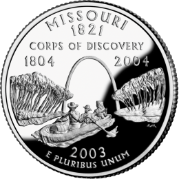 2003-P American 25-Cent State Quarter Series: Missouri Brilliant Uncirculated Coin