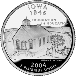 2004-D American 25-Cent State Quarter Series: Iowa Brilliant Uncirculated Coin