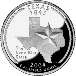 2004-D American 25-Cent State Quarter Series: Texas Brilliant Uncirculated Coin